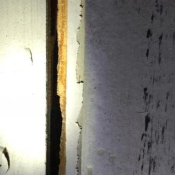 Door hinge falling off due to termite damage (772)579-0230